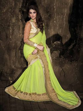 Viva N Diva Georgette Floral Embroidery Saree -Kalki-03-3013