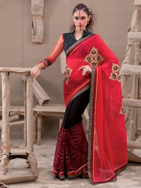 Viva N Diva Georgette Embroidered Saree Kanvi-2253