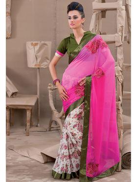Viva N Diva Georgette Embroidered Saree Kanvi-2260