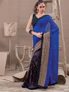 Viva N Diva Georgette Embroidered Saree Kanvi-2261