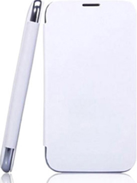 Branded Flip Cover for Karbonn Titanium S1   White available at Naaptol for Rs.599
