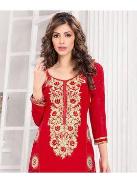 Viva N Diva Semi Stitched Georgette Embroidered Suit Kesa-13