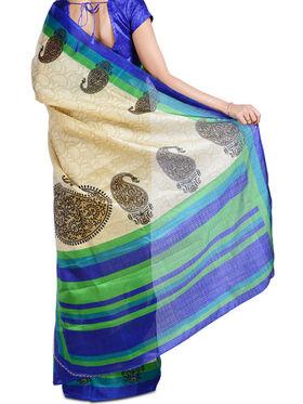 Sarisha Set of 7 Tussar Art Silk Sarees (7B7)
