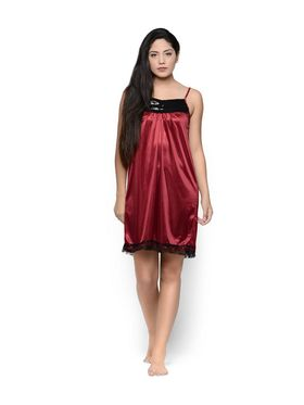 Set of 2 Klamotten Satin Solid Nightwear - X29-151