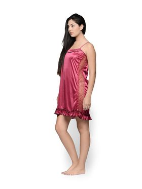 Set of 2 Klamotten Satin Solid Nightwear - X31-44