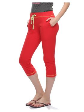 Clovia Cotton Solid Capri -LB0018P04