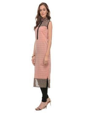 Lavennder Khadi Striped Kurti -LK-62255