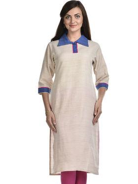 Lavennder Khadi Striped Kurti -LK-623340
