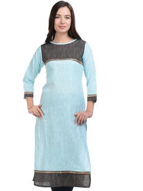 Lavennder Khadi Striped Kurti -LK-623343