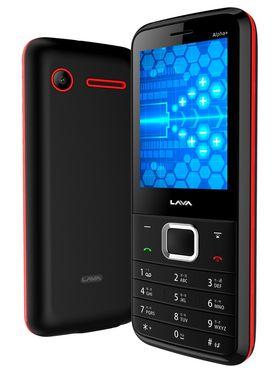Lava KKT Alpha+ Dual Sim Phone - Black&Red