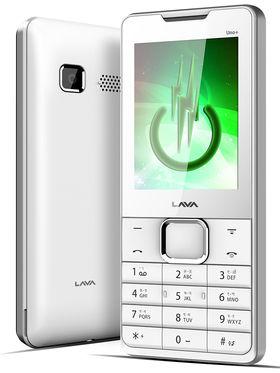 Lava KKT Uno+ Dual Sim Phone - White & Silver