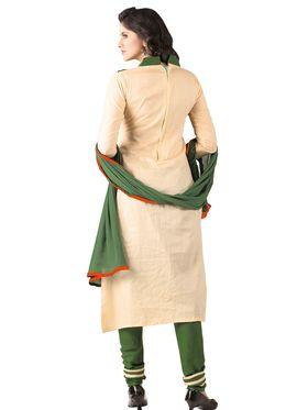 Khushali Fashion Glaze Cotton Embroidered Dress Material -Mcrdmhk803