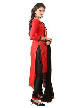 Khushali Fashion Glaze Cotton Embroidered Dress Material -Mcrdmhk811