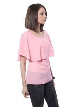 Meira Poly Crepe Solid-Top - Pink - MEWT-1050-K