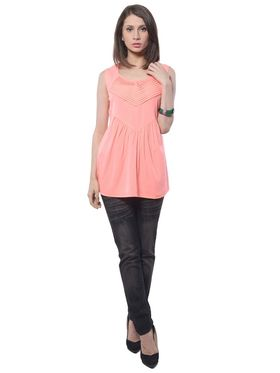 Meira Poly Crepe Solid-Top - Orange - MEWT-1171-A