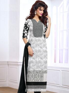 Viva N Diva Pure Georgette Embroidered Unstitched Suit Mehreem-7776