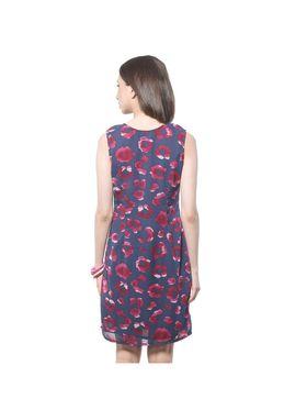 Meira Printed Poly Crepe Women's Dress - Multicolour _ MEWT-1136-D-Multi