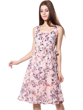 Meira Printed Chiffon Women's Dress - Multicolour _ MEWT-1022-N-Multi