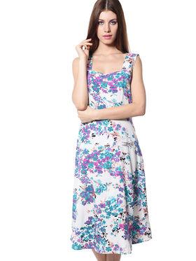 Meira Printed Crepe Women's Dress - Multicolour _ MEWT-1064-J-Multi