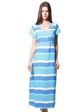 Meira Printed Crepe Women's Dress - Sky Blue _ MEWT-1153-AkyBlue