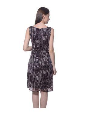 Meira Chiffon Printed Dress - Multicolor - MEWT-1180-B-Multi