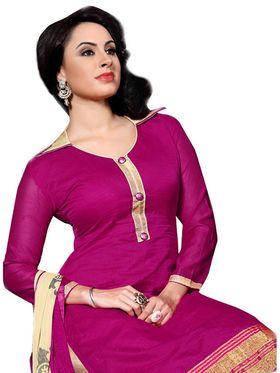 Khushali Fashion Chanderi Self Dress Material -Ncekl1003