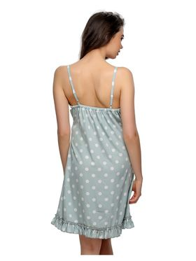 Clovia Crepe Polka Print Beach Dress -NS0545P11