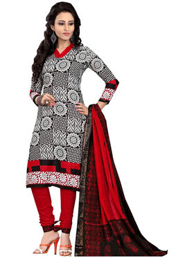 Pack of 5 Priya Fashions Printed Cotton Unstitched Dress Material -PF5S02