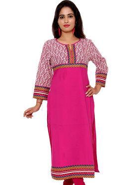 Set of 6 Priya Fashions Sanganeri & Jaipuri Cotton Printed Kurtis - PF101K6
