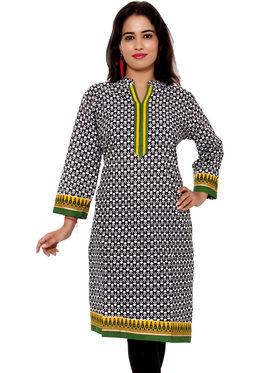 Set of 2 Priya Fashions Pure Cotton Jaipuri Printed Kurtis - PF106K2