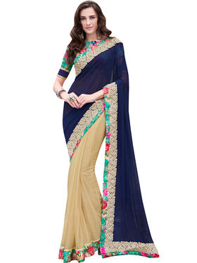 Indian Women Bemberg And Georgette  Saree -Ra10515
