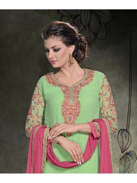 Viva N Diva Georgette Embroidered Semi Stitched Suit Rihanaa-1104