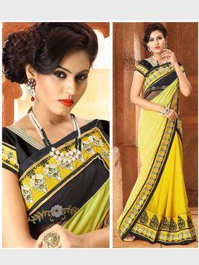 Viva N Diva Chiffon Floral Embroidery Saree -Riwaaz-Again-9010