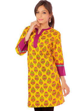 Combo of 3 Bazar Villa Cotton Printed Kurtis - BCE2055_42