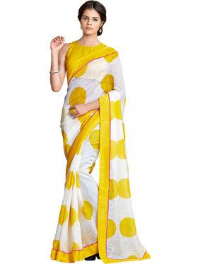 Nanda Silk Mills Linen Printed Saree Sap-1003