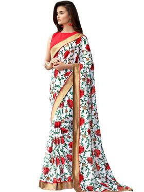 Nanda Silk Mills Linen Printed Saree Sap-1010