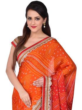 Shonaya Bhandej Georgette Sarees -Sgbnd-4808