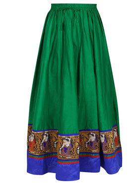 Amore Plain Cotton Embellished Skirt -Skv111G
