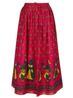Amore Printed Cotton Skirt -Skv182P
