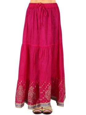 Amore Printed Cotton Skirt -SKV211P