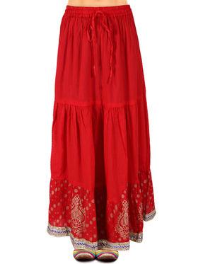 Amore Printed Cotton Skirt -SKV214R