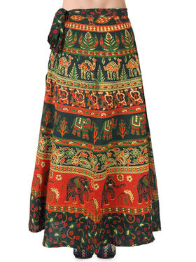Amore Printed Cotton Skirt -SKVW12G