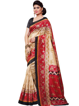 Shonaya Printed Handloom Cotton Silk Saree -Snkvs-3006-B