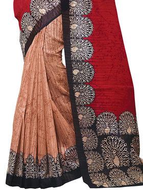 Shonaya Printed Handloom Cotton Silk Saree -Snkvs-3007-A