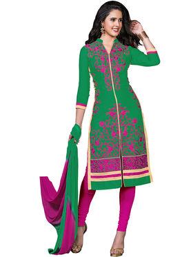 Khushali Fashion Glaze Cotton Embroidered Dress Material -Srsrh7508