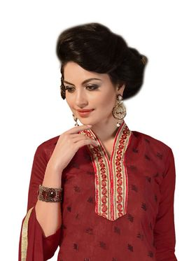 Khushali Fashion Chanderi Embroidered Dress Material -Ssblfr1003