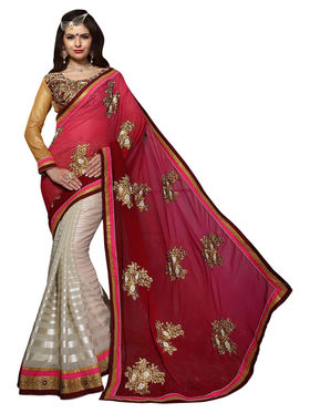 Khushali Fashion Georgette Foil Embroidered & Embellished Saree -Stpnhr10002