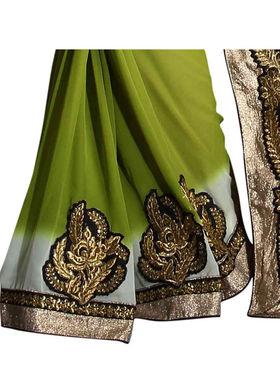 Khushali Fashion Georgette Embroidered & Embellished Saree -Stpnhr10004