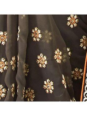 Khushali Fashion Embroidered Georgette Half & Half Saree_KF59