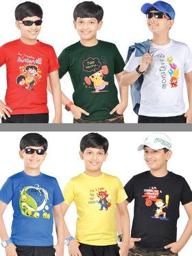 American Indigo 6 Graphic T-Shirts for Boys